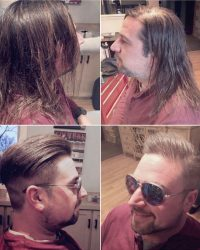 Barber Long Men's Hair Cuts in York, PA