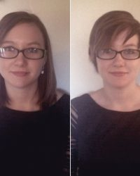 Before and After Short Hair Cut for Women