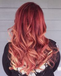 Bright Red Hair Color York Salon