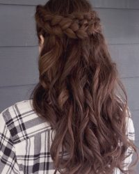 Wedding Hair Down with Braid - York, PA