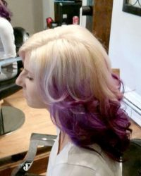 Purple and Blonde Hair York PA Salon