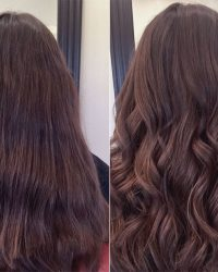 Before and After Wavy Hair Style