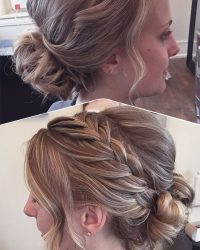 Updo with Side Braid York, PA Homecoming Salon